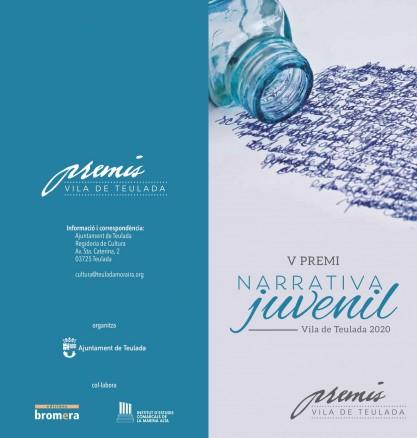 Premi Vila de Teulada de Narrativa Juvenil: nova data per a presentar obres