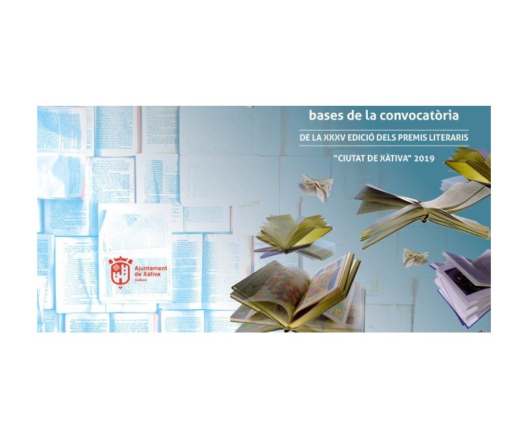 Presenta el teu original als Premis Literaris Ciutat de Xàtiva 2019!