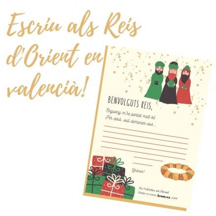 Carta als Reis en valencià per descarregar i imprimir. Escriu-los amb Bromera!