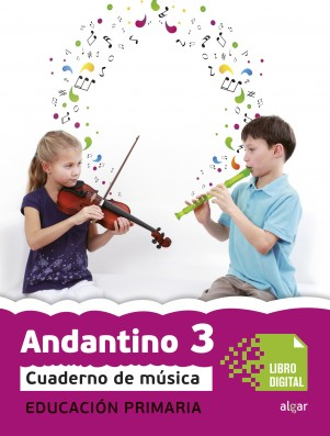 Andantino 3 Cuaderno música (App Digital)