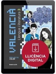 Valencià. Llengua i literatura 3. Projecte Valor (llicència digital)