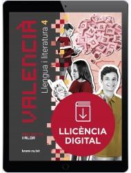 Valencià. Llengua i literatura 4. Projecte Valor (llicència digital)