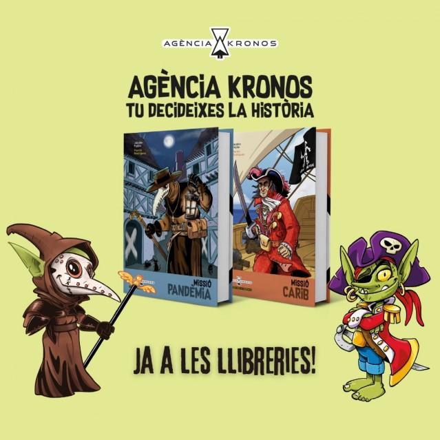 Ja a les llibreries la nova col·lecció de llibres multiavenura: Agència Kronos. Tu decideixes la història