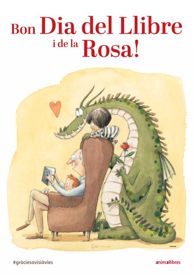 Cartell Rocio Bonilla Dia del Llibre i la Rosa 2020