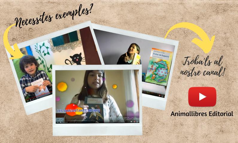 Exemples de booktubes al canal de youtube d'Animallibres